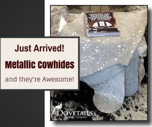 Metallic Cowhides at #Dovetailsllc